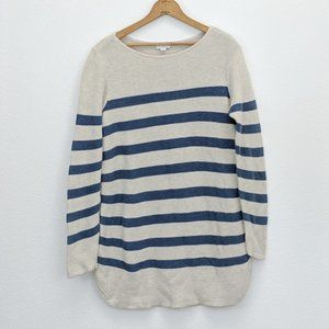 J. Jill Striped Sweater Hip Length  Size Medium